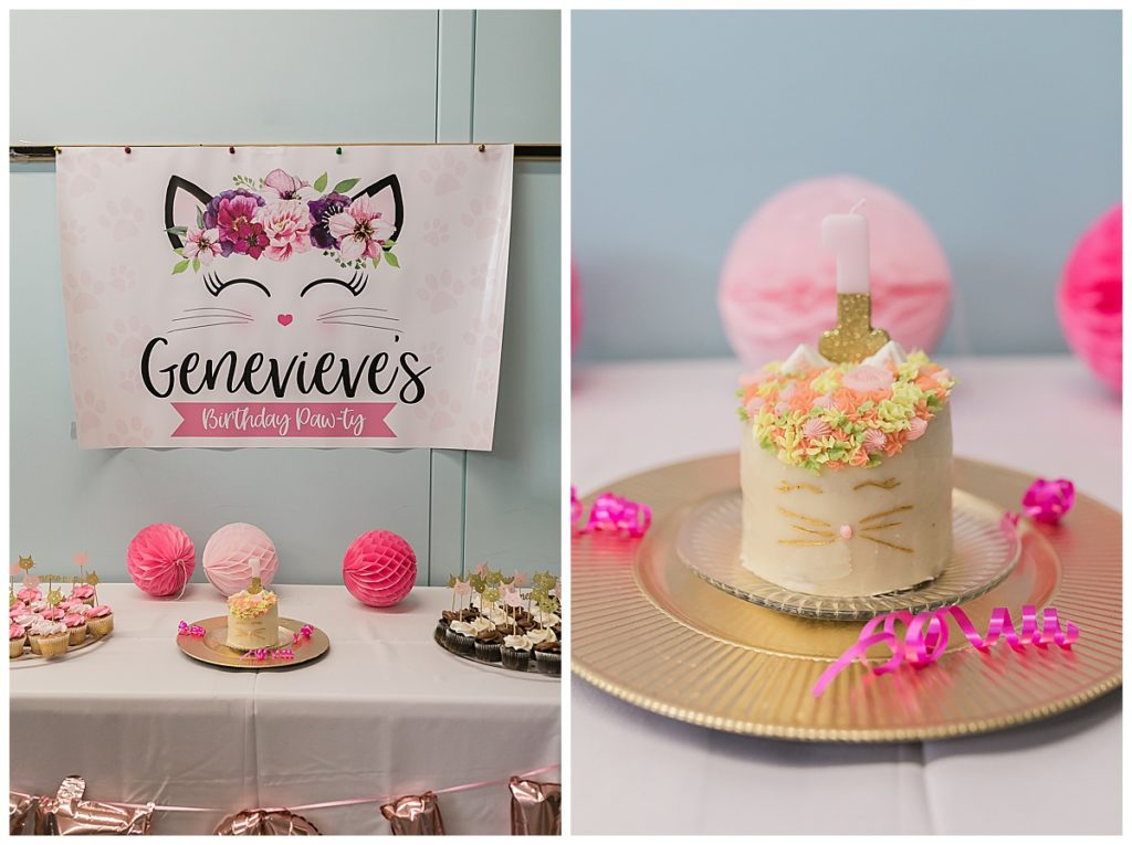 One year old cat themed birthday party